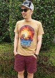 画像1: 【TELOVIN】◆HAWAIIAN SKULL◆クルーTシャツ (1)