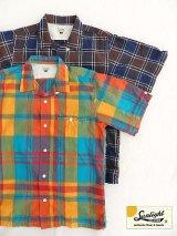50%OFF!! 【SUNLIGHT BELIEVER】半袖クラシック マドラス オープンシャツ 2色
