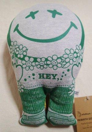 """画像1: Smile Pillow×デトアーライフ """"HEY"""" グリーン×エンジ"""