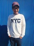 """他の写真2: ★30%OFF!!★GOOD ON/グッドオン """"NYC"""" L/S  SWEAT(フロッキープリント) 2色"""
