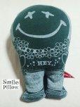"""画像1: Smile Pillow×デトアーライフ """"HEY"""" 深緑×ブルー (1)"""