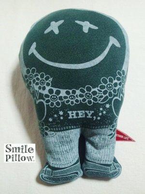 """画像1: Smile Pillow×デトアーライフ """"HEY"""" 深緑×ブルー"""