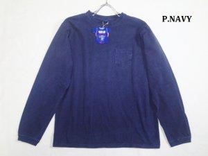 画像2: GOOD ON/グッドオン USA  ロングスリーブ ポケット クルーTEE(Pigment Dye) 4色