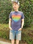 画像2: 【TELOVIN】◆RAINBOW HEART◆クルーTシャツ (2)