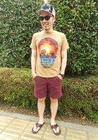 他の写真2: 【TELOVIN】◆HAWAIIAN SKULL◆クルーTシャツ