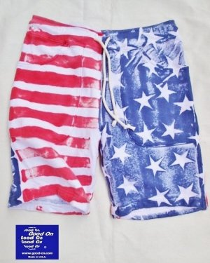画像1: ★40%OFF★ GOOD ON/グッドオン USA FLAG PRINT SWEAT SHORTS