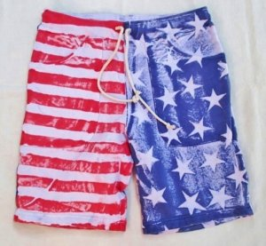画像2: ★40%OFF★ GOOD ON/グッドオン USA FLAG PRINT SWEAT SHORTS