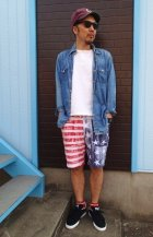 他の写真3: ★40%OFF★ GOOD ON/グッドオン USA FLAG PRINT SWEAT SHORTS