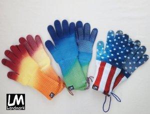 画像1: Landmark/ランドマーク リストバンド付き手袋 (滑り止め有)