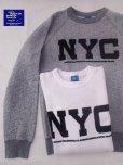 """画像1: ★30%OFF!!★GOOD ON/グッドオン """"NYC"""" L/S  SWEAT(フロッキープリント) 2色 (1)"""