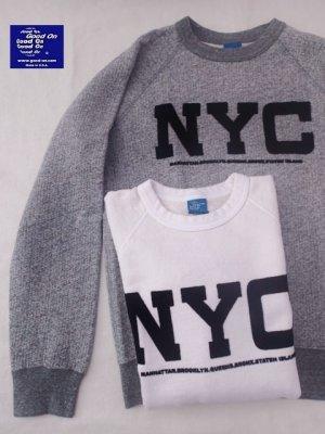"""画像1: ★30%OFF!!★GOOD ON/グッドオン """"NYC"""" L/S  SWEAT(フロッキープリント) 2色"""
