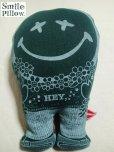 """画像1: Smile Pillow×デトアーライフ """"HEY"""" 深緑×ネイビー (1)"""