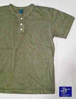 画像1: GOOD ON/グッドオン USA Henley-NeckTシャツ(Pigment Dye) 8色