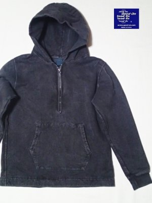 画像1: GOOD ON/グッドオン ROUGH 1/2 ZIP P/O HOOD SWEAT (Pigment Dye)3色
